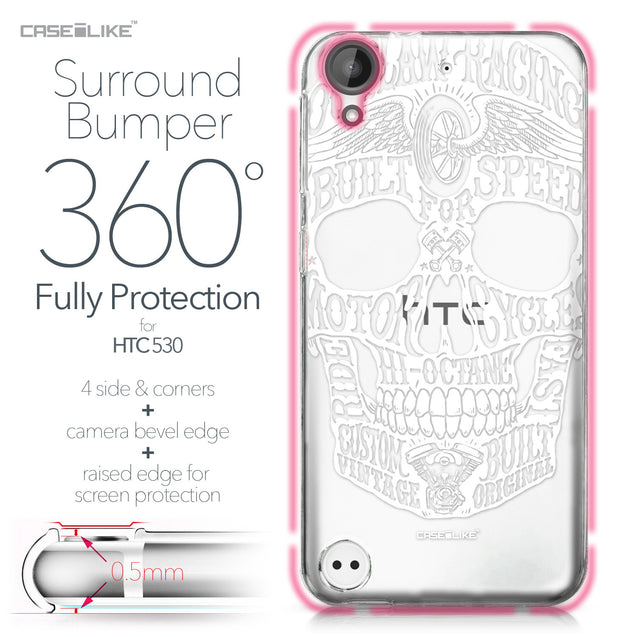 HTC Desire 530 case Art of Skull 2530 Bumper Case Protection | CASEiLIKE.com