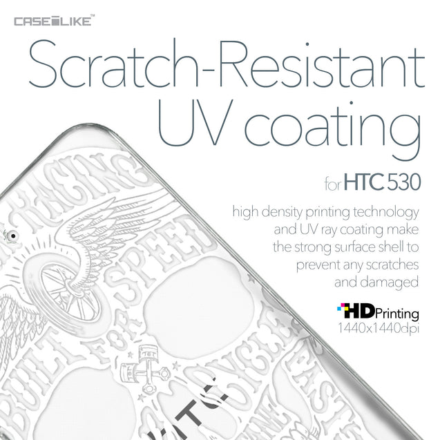 HTC Desire 530 case Art of Skull 2530 with UV-Coating Scratch-Resistant Case | CASEiLIKE.com
