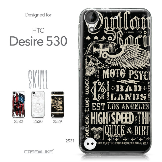HTC Desire 530 case Art of Skull 2531 Collection | CASEiLIKE.com