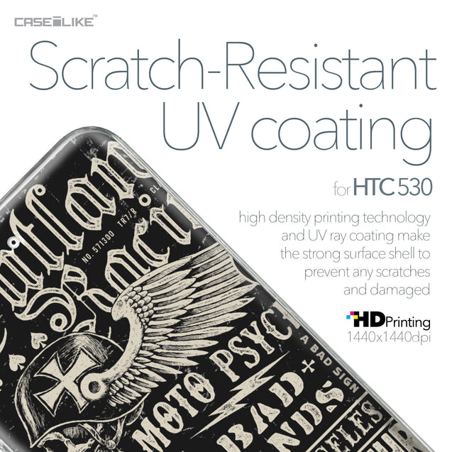 HTC Desire 530 case Art of Skull 2531 with UV-Coating Scratch-Resistant Case | CASEiLIKE.com