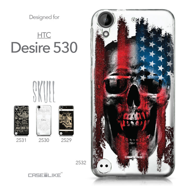 HTC Desire 530 case Art of Skull 2532 Collection | CASEiLIKE.com