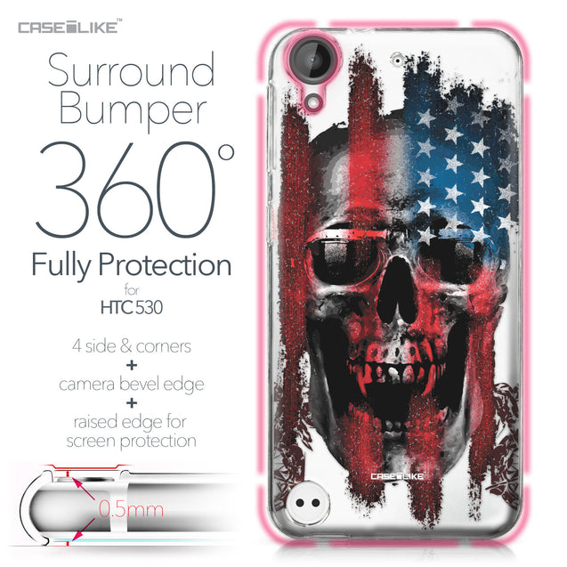 HTC Desire 530 case Art of Skull 2532 Bumper Case Protection | CASEiLIKE.com