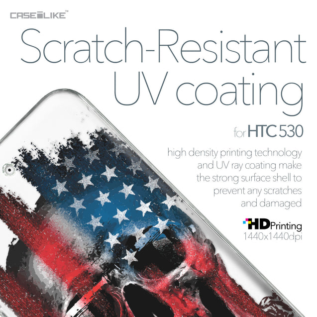 HTC Desire 530 case Art of Skull 2532 with UV-Coating Scratch-Resistant Case | CASEiLIKE.com