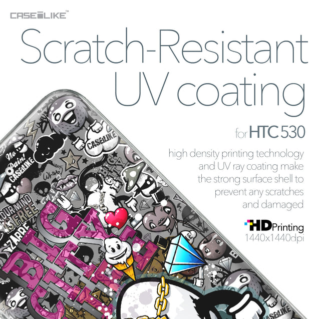 HTC Desire 530 case Graffiti 2704 with UV-Coating Scratch-Resistant Case | CASEiLIKE.com