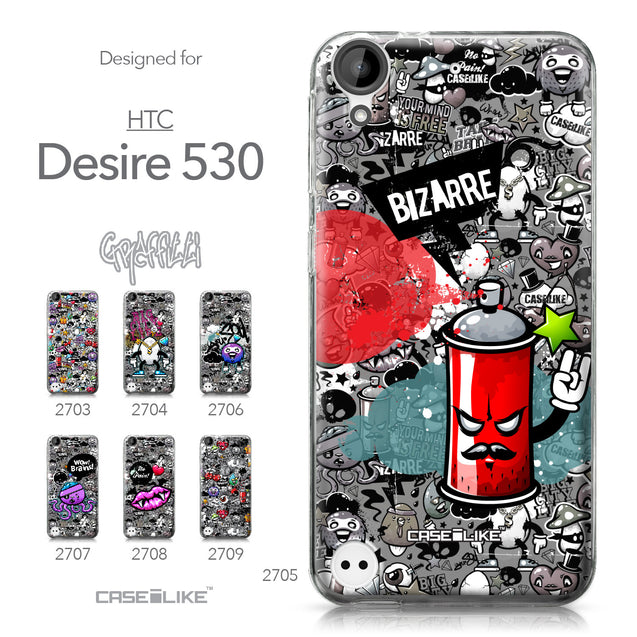 HTC Desire 530 case Graffiti 2705 Collection | CASEiLIKE.com