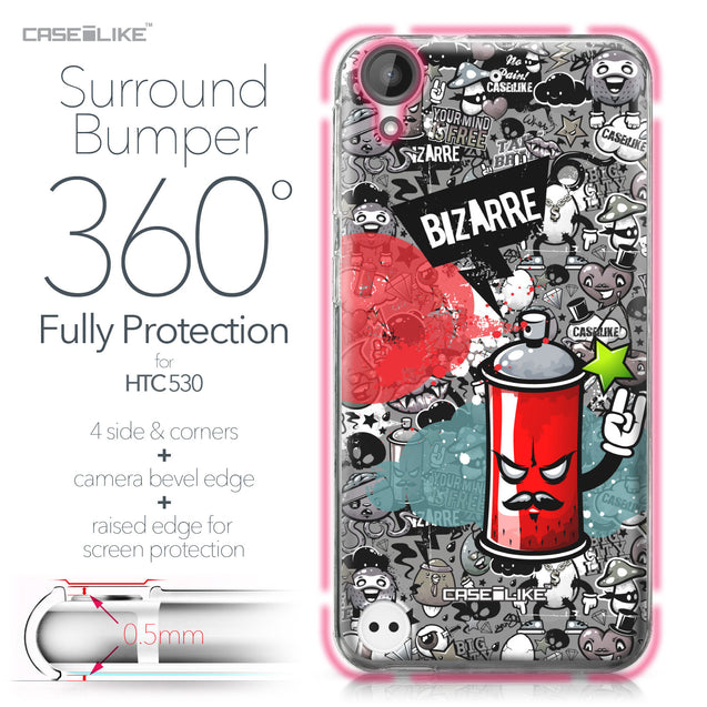 HTC Desire 530 case Graffiti 2705 Bumper Case Protection | CASEiLIKE.com