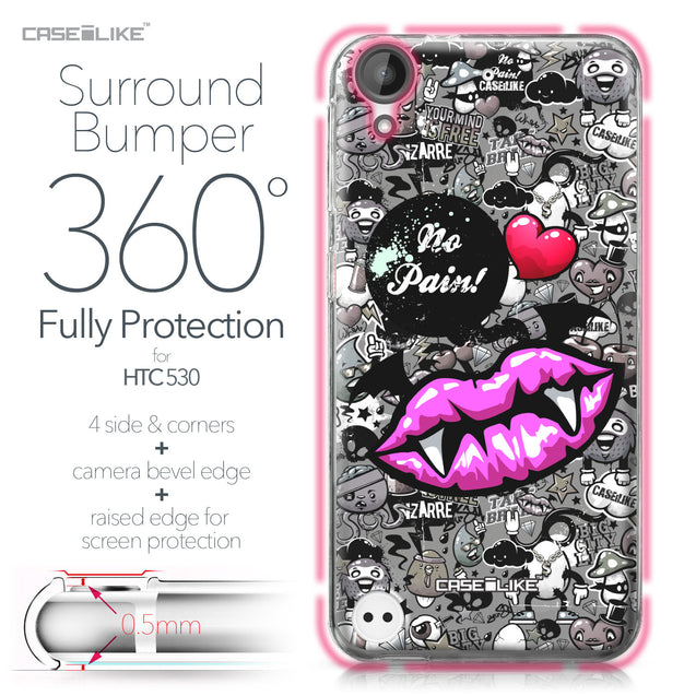 HTC Desire 530 case Graffiti 2708 Bumper Case Protection | CASEiLIKE.com