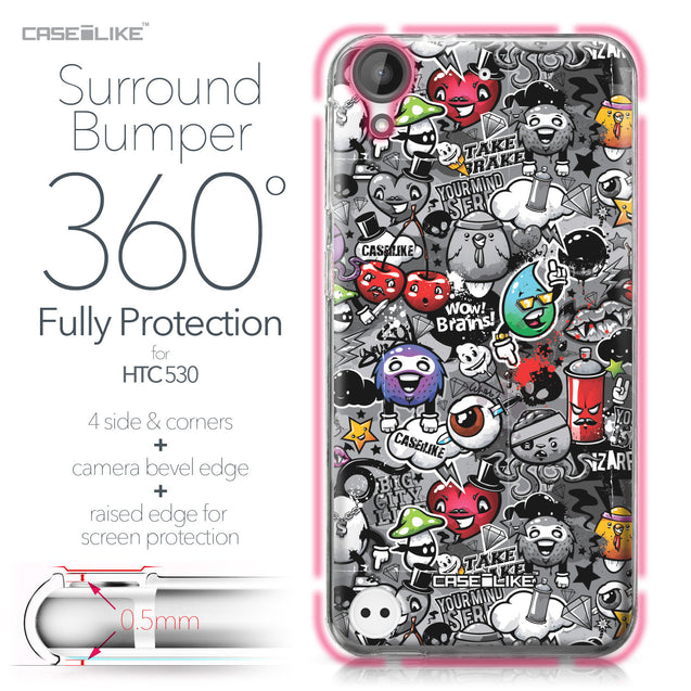 HTC Desire 530 case Graffiti 2709 Bumper Case Protection | CASEiLIKE.com