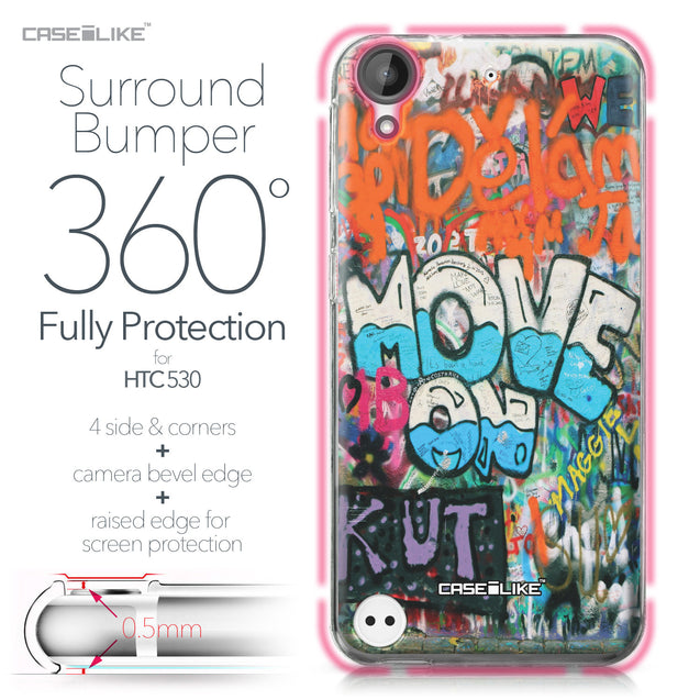 HTC Desire 530 case Graffiti 2722 Bumper Case Protection | CASEiLIKE.com