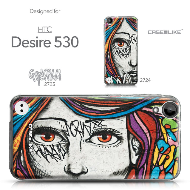 HTC Desire 530 case Graffiti Girl 2725 Collection | CASEiLIKE.com