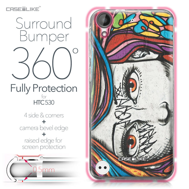 HTC Desire 530 case Graffiti Girl 2725 Bumper Case Protection | CASEiLIKE.com