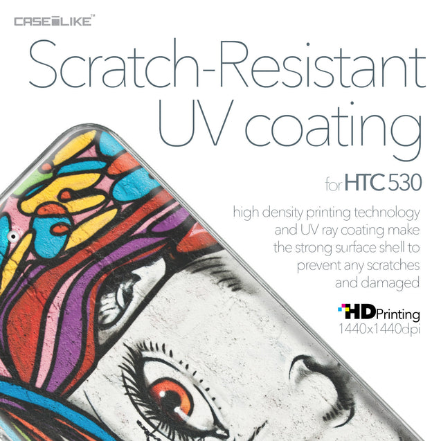HTC Desire 530 case Graffiti Girl 2725 with UV-Coating Scratch-Resistant Case | CASEiLIKE.com