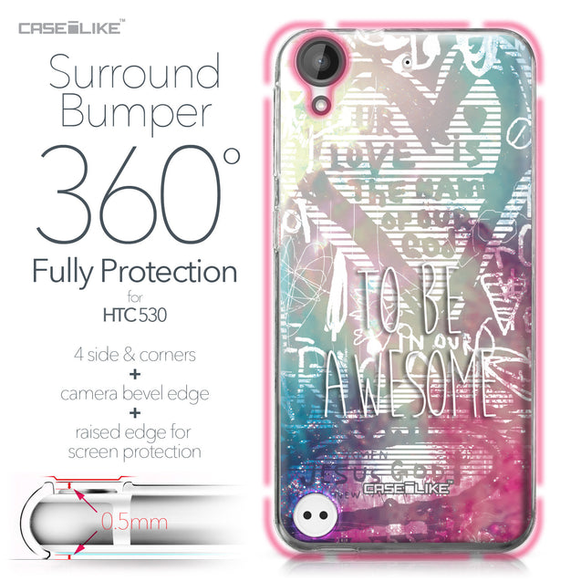 HTC Desire 530 case Graffiti 2726 Bumper Case Protection | CASEiLIKE.com