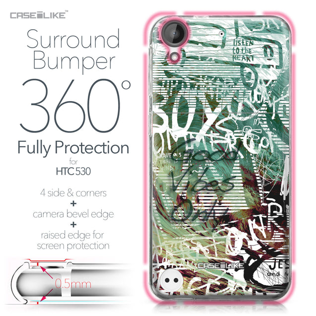 HTC Desire 530 case Graffiti 2728 Bumper Case Protection | CASEiLIKE.com