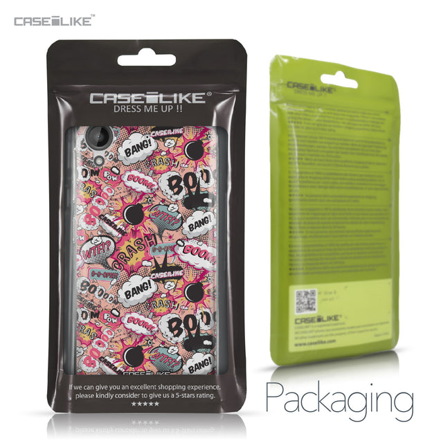 HTC Desire 530 case Comic Captions Pink 2912 Retail Packaging | CASEiLIKE.com