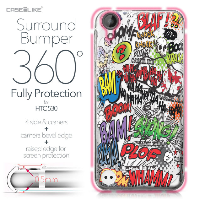 HTC Desire 530 case Comic Captions 2914 Bumper Case Protection | CASEiLIKE.com