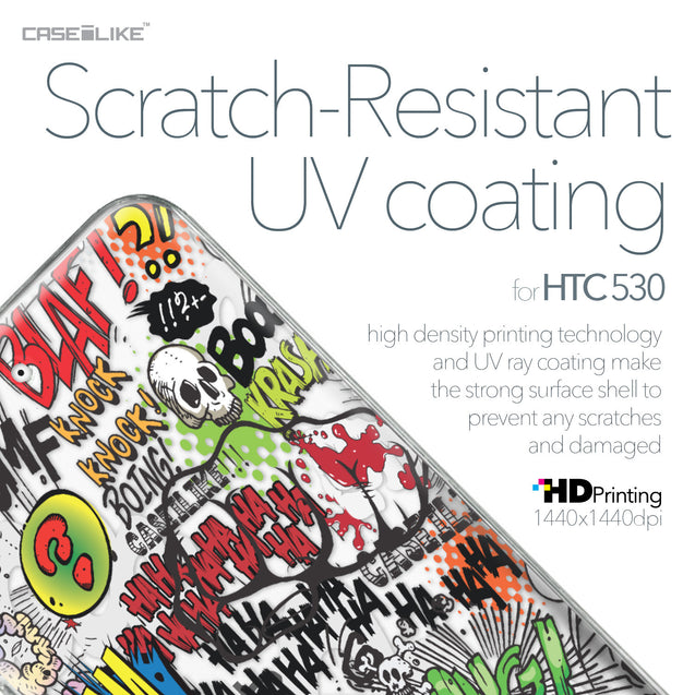 HTC Desire 530 case Comic Captions 2914 with UV-Coating Scratch-Resistant Case | CASEiLIKE.com