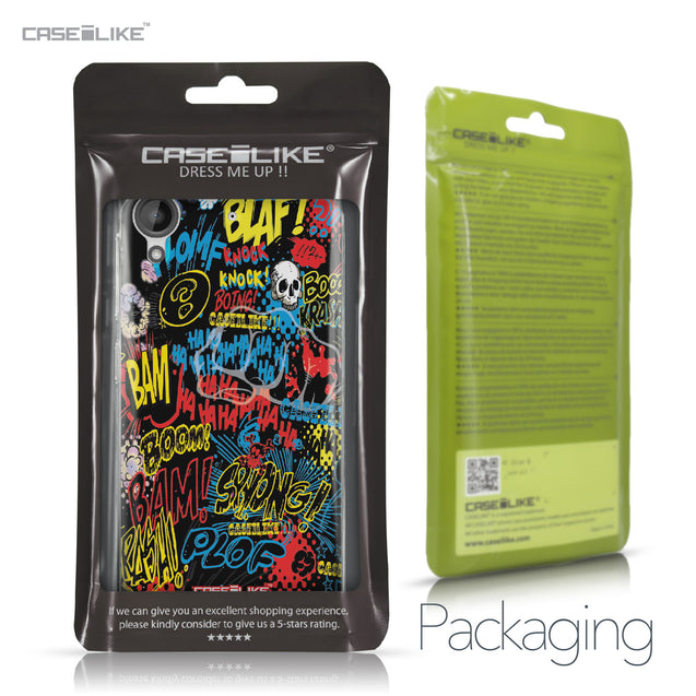 HTC Desire 530 case Comic Captions Black 2915 Retail Packaging | CASEiLIKE.com