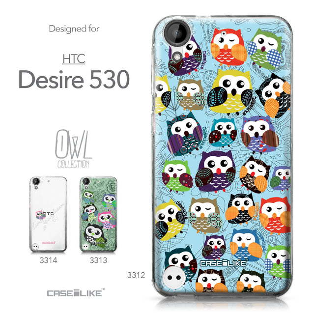 HTC Desire 530 case Owl Graphic Design 3312 Collection | CASEiLIKE.com