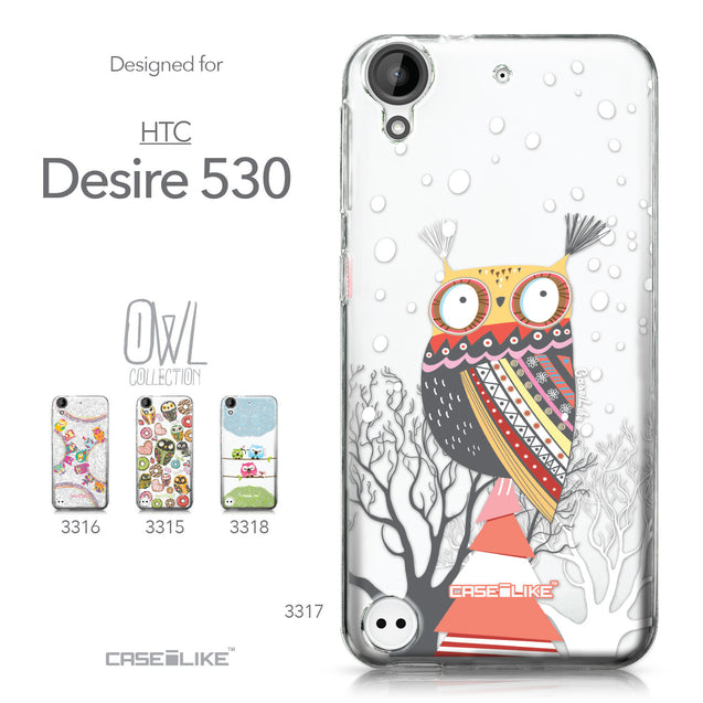 HTC Desire 530 case Owl Graphic Design 3317 Collection | CASEiLIKE.com