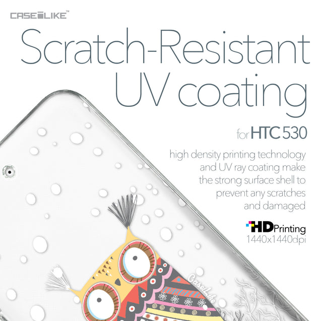 HTC Desire 530 case Owl Graphic Design 3317 with UV-Coating Scratch-Resistant Case | CASEiLIKE.com