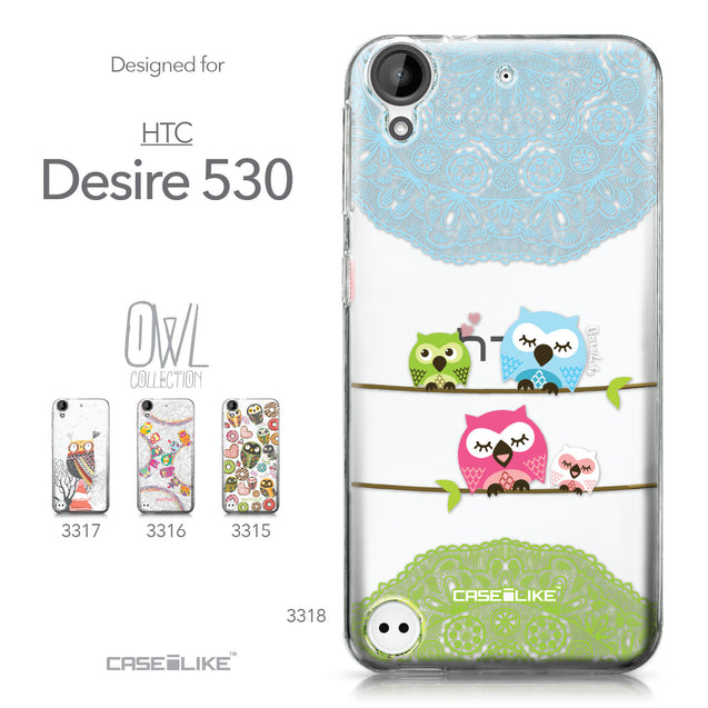 HTC Desire 530 case Owl Graphic Design 3318 Collection | CASEiLIKE.com