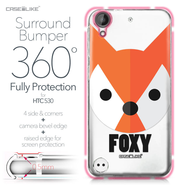 HTC Desire 530 case Animal Cartoon 3637 Bumper Case Protection | CASEiLIKE.com