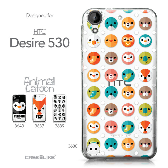 HTC Desire 530 case Animal Cartoon 3638 Collection | CASEiLIKE.com