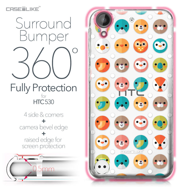 HTC Desire 530 case Animal Cartoon 3638 Bumper Case Protection | CASEiLIKE.com