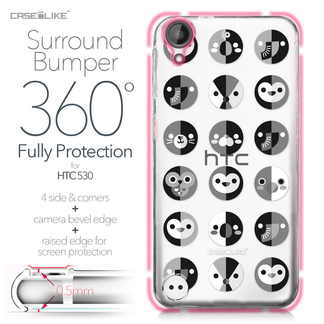 HTC Desire 530 case Animal Cartoon 3639 Bumper Case Protection | CASEiLIKE.com