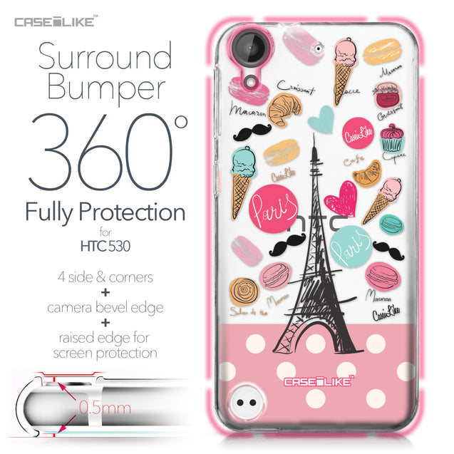 HTC Desire 530 case Paris Holiday 3904 Bumper Case Protection | CASEiLIKE.com