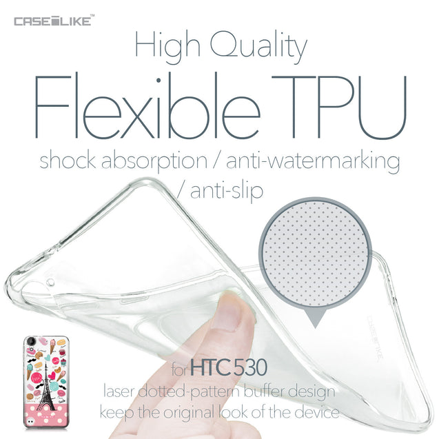 HTC Desire 530 case Paris Holiday 3904 Soft Gel Silicone Case | CASEiLIKE.com