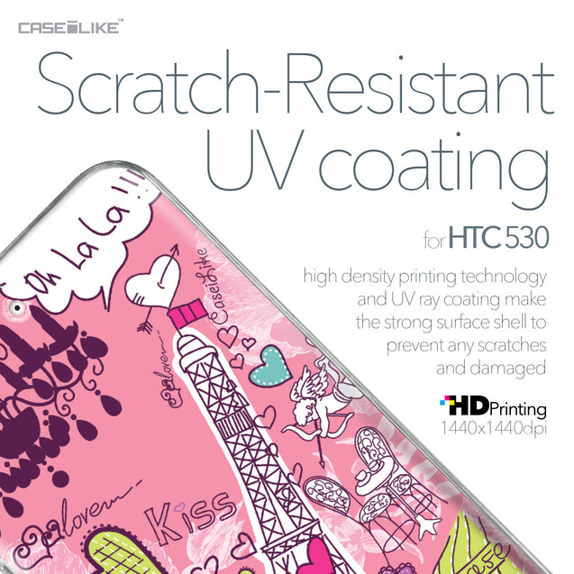 HTC Desire 530 case Paris Holiday 3905 with UV-Coating Scratch-Resistant Case | CASEiLIKE.com