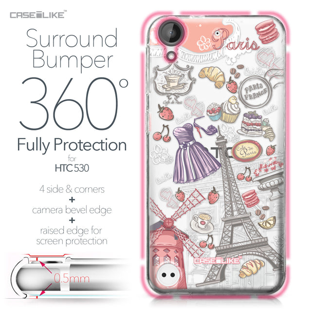 HTC Desire 530 case Paris Holiday 3907 Bumper Case Protection | CASEiLIKE.com