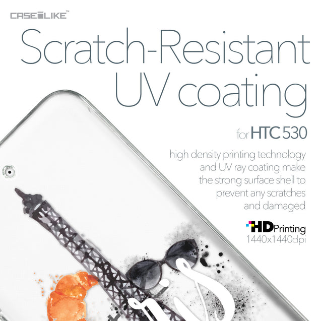 HTC Desire 530 case Paris Holiday 3908 with UV-Coating Scratch-Resistant Case | CASEiLIKE.com