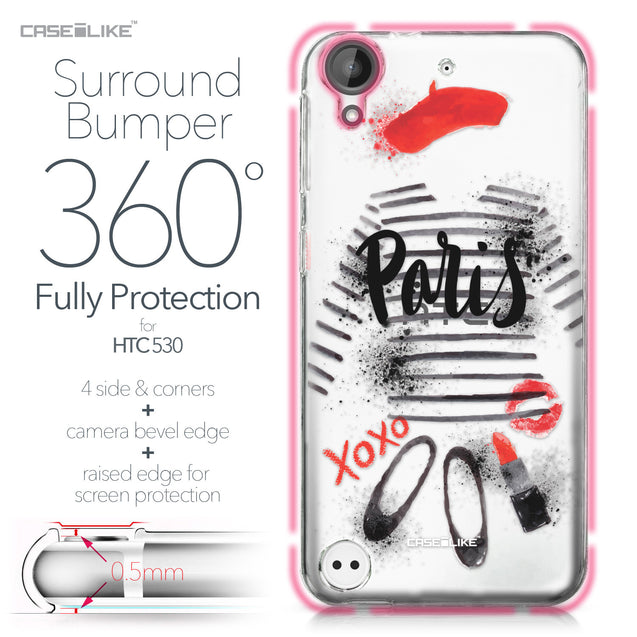 HTC Desire 530 case Paris Holiday 3909 Bumper Case Protection | CASEiLIKE.com