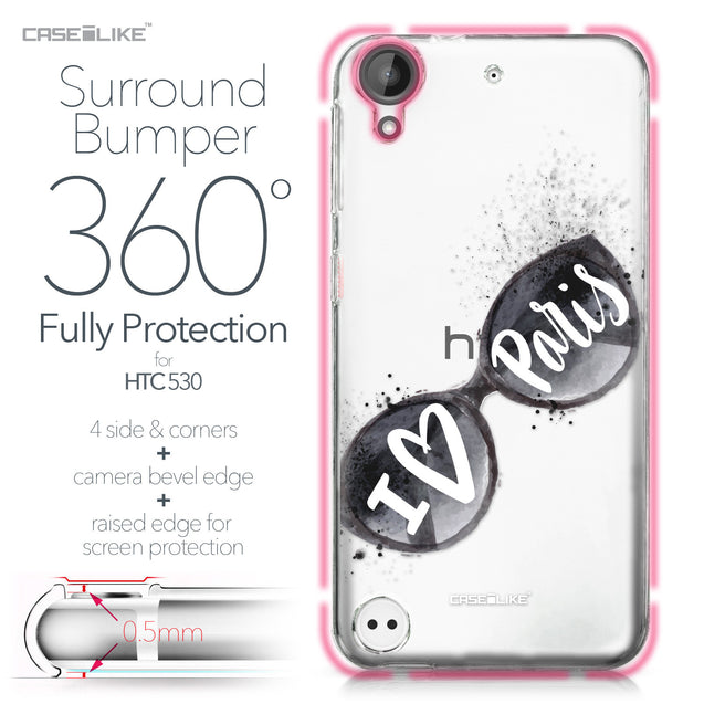 HTC Desire 530 case Paris Holiday 3911 Bumper Case Protection | CASEiLIKE.com