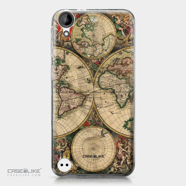 HTC Desire 530 case World Map Vintage 4607 | CASEiLIKE.com