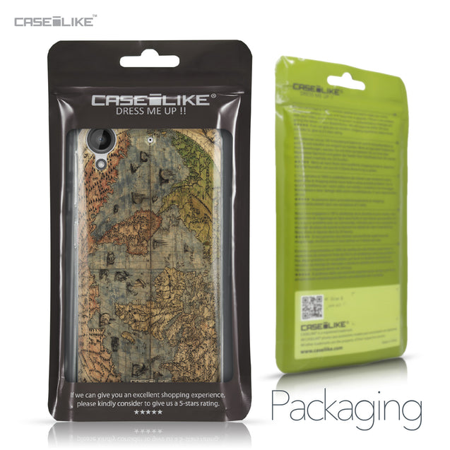 HTC Desire 530 case World Map Vintage 4608 Retail Packaging | CASEiLIKE.com