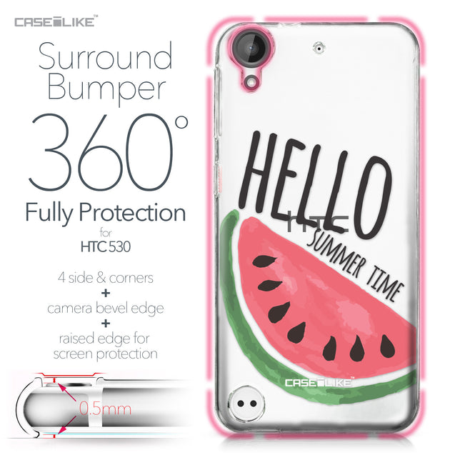 HTC Desire 530 case Water Melon 4821 Bumper Case Protection | CASEiLIKE.com
