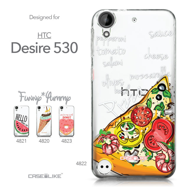 HTC Desire 530 case Pizza 4822 Collection | CASEiLIKE.com