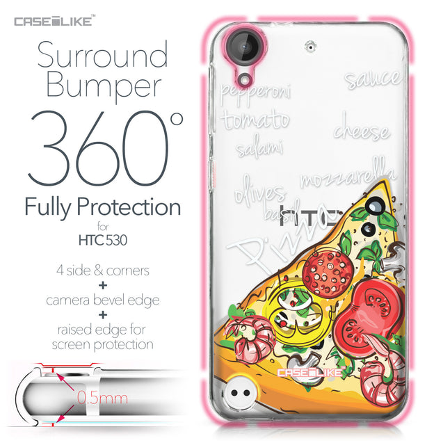 HTC Desire 530 case Pizza 4822 Bumper Case Protection | CASEiLIKE.com