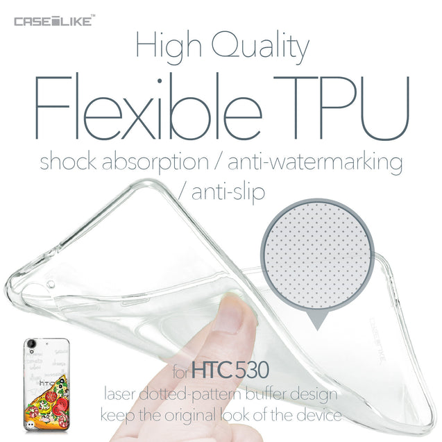 HTC Desire 530 case Pizza 4822 Soft Gel Silicone Case | CASEiLIKE.com
