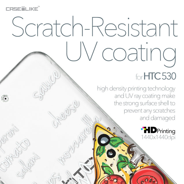 HTC Desire 530 case Pizza 4822 with UV-Coating Scratch-Resistant Case | CASEiLIKE.com