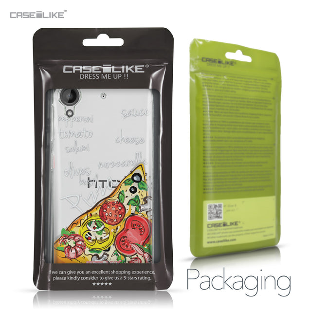 HTC Desire 530 case Pizza 4822 Retail Packaging | CASEiLIKE.com