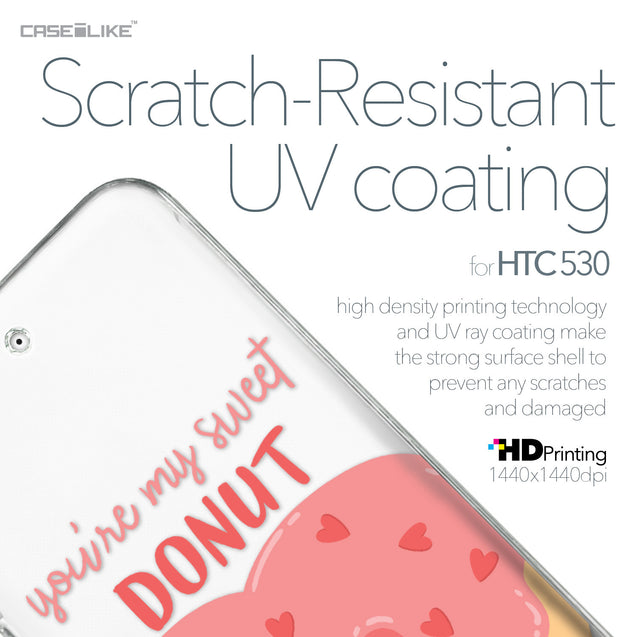 HTC Desire 530 case Dounuts 4823 with UV-Coating Scratch-Resistant Case | CASEiLIKE.com