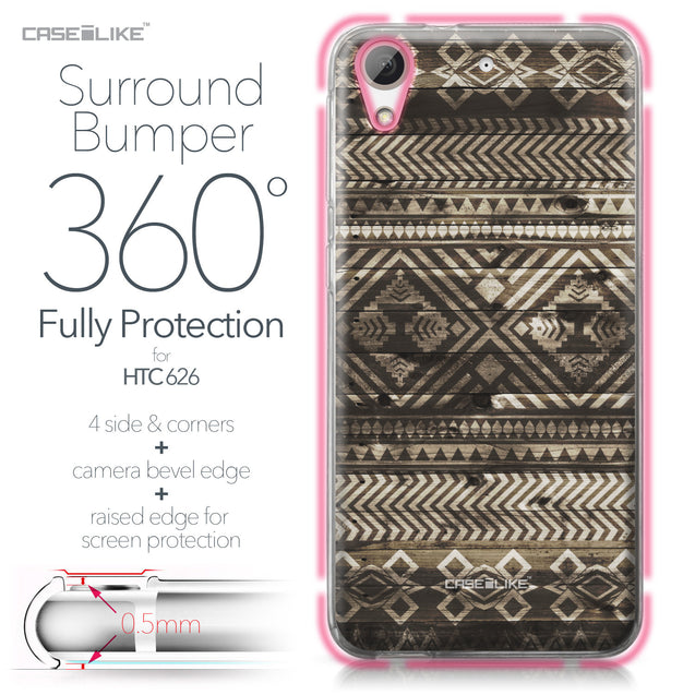 HTC Desire 626 case Indian Tribal Theme Pattern 2050 Bumper Case Protection | CASEiLIKE.com