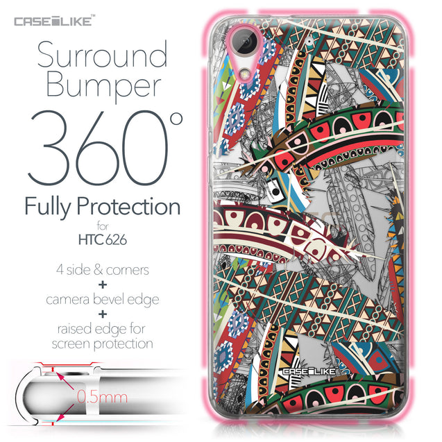 HTC Desire 626 case Indian Tribal Theme Pattern 2055 Bumper Case Protection | CASEiLIKE.com