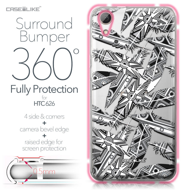 HTC Desire 626 case Indian Tribal Theme Pattern 2056 Bumper Case Protection | CASEiLIKE.com
