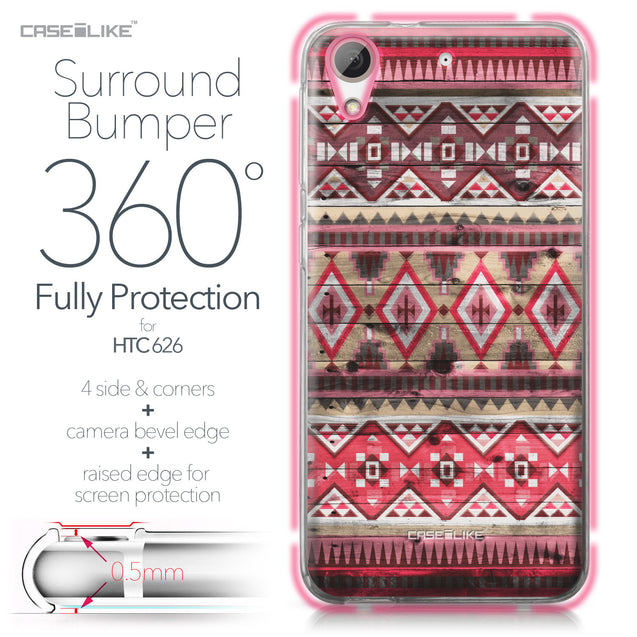HTC Desire 626 case Indian Tribal Theme Pattern 2057 Bumper Case Protection | CASEiLIKE.com